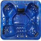 China Outdoor Hot Massage Tub 4 Person With Bluetooth , Wifi , Music Speakers factory