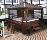 China Anti Corrosive Wood Hot Tub Gazebo PFD Stainless Steel Frame For House / Garden factory