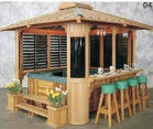 Wooden House Hot Tub Gazebo With Red Pine / White Fir Material