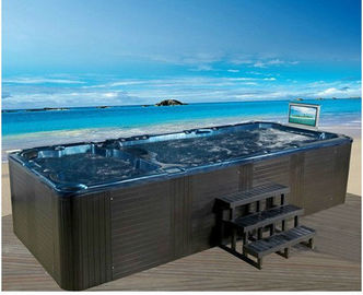 China Freestanding Installation Swim Spa Tub 12 Person Balboa Control System factory