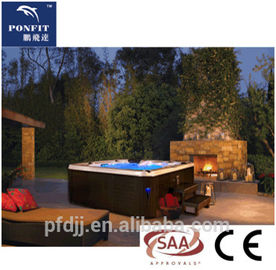 European Standard Freestanding Spa Tub Acrylic Material Optional Color Jet Hot Tub