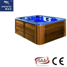 Massage Function Whirlpool Spa Tub , Air Jet Freestanding Outdoor Bathtub