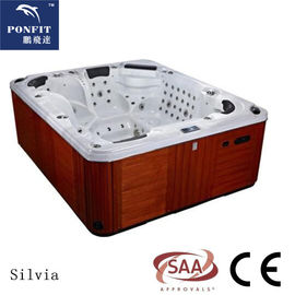 Freestanding Whirlpool Hot Tub Acrylic 4 Person Whirlpool Tub Corner Drain Location