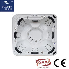 China Acrylic Freestanding Outdoor Whirlpool Tub With Ozonator / LED factory