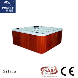 China Outdoor Acrylic Bubble Spa Hot Tub 6 People PFDJJ 04A With Heater factory