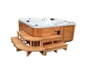 Endless Pool Massage Swim Spa Tub , Outdoor Massage Home Spa Hot Tub
