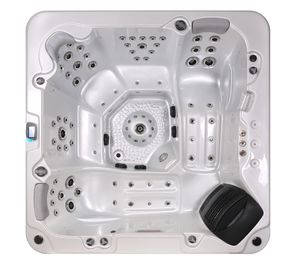 China Corner Location Hydrotherapy Hot Tub Spa 5 Person Capacity Ponfit With Bluetooth Speakers factory