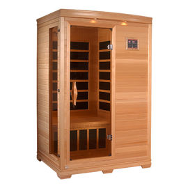 China Freestanding Dry Steam Portable Sauna Room Cedar Wood Material CE Certificate factory