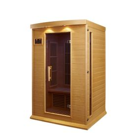 China Relaxing Outdoor Sauna Room Hemlock Wood For Healthy Lifestyle factory
