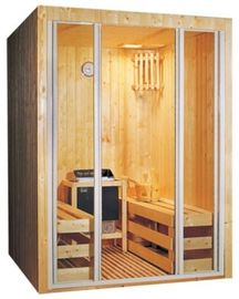 Outdoor Portable Sauna Room Red Cedar Barrel Sauna Room For 4 People