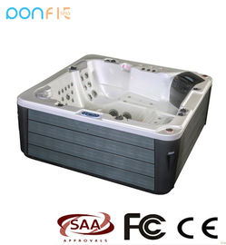 China Square Shape Acrylic Spa Tub Acrylic Whirlpool Massage Outdoor Spa Tub factory